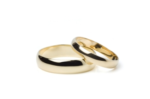 Gold Wedding Rings (Clipping Path)